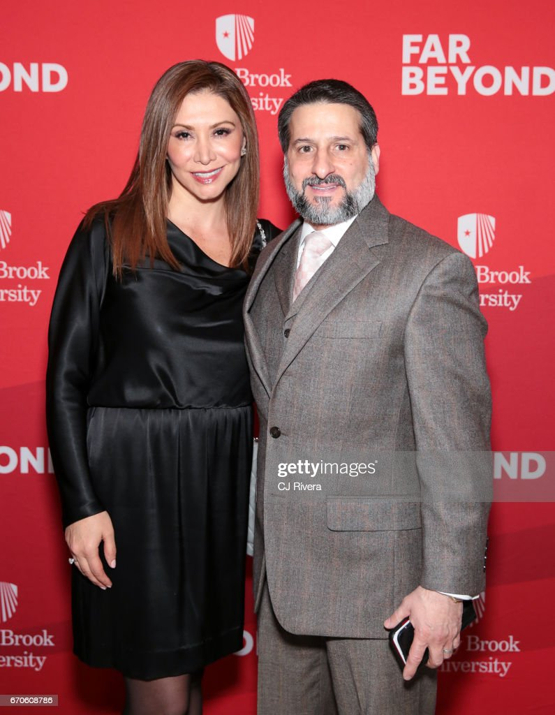 Elizabeth Signore and Tony signore attend the 2017 Stars of Stony Brook Gala at Pier Sixty at Chelsea Piers on April 19, 2017 in New York City.