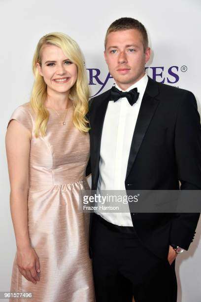 Elizabeth Smart and Matthew Gilmour attend the 43rd Annual Gracie Awards at the Beverly Wilshire Four Seasons Hotel on May 22 2018 in Beverly Hills...