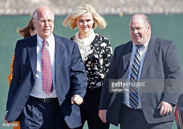 Elizabeth Smart , Mark Scharman of the Salt Lake City Police Department, Louis Smart her mother and Richard Lambert of the U.S. Attorneys office,...