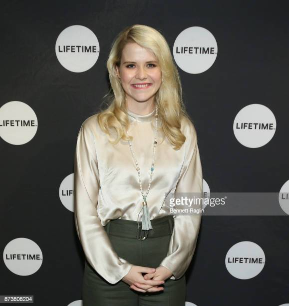 Elizabeth Smart poses for a picture during the Lifetime and NeueHouse Women's Forum screening of I Am Elizabeth Smart at NeueHouse Madison Square on...