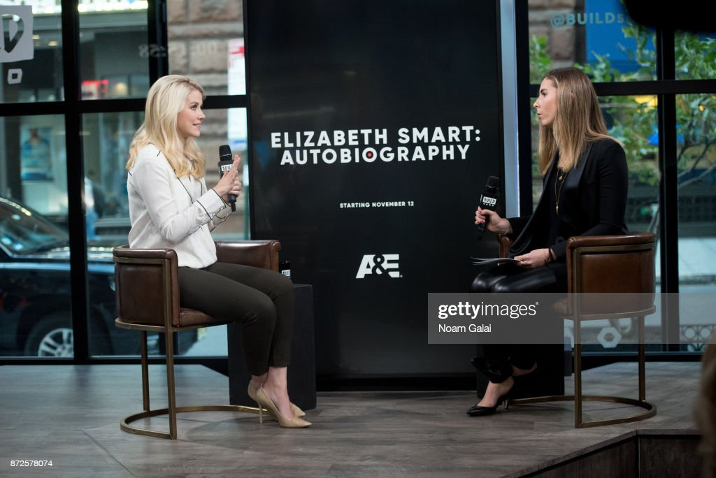 Elizabeth Smart (L) visits Build Series to discuss 'Elizabeth Smart: Autobiography' at Build Studio on November 10, 2017 in New York City.