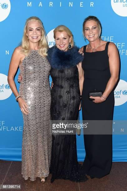 Elizabeth Smith Mindy Grossman and Marjolein Steenbergen attend 13th Annual UNICEF Snowflake Ball 2017 at 60 Wall Street Atrium on November 28 2017...