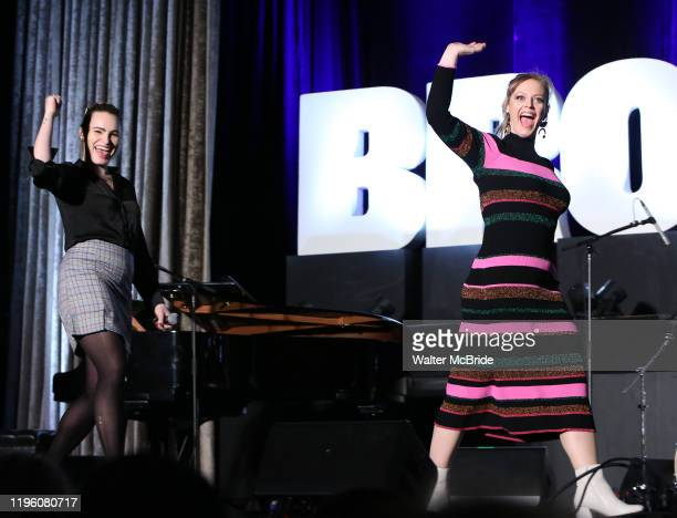 """Elizabeth Stanley, Kathryn Gallagher from """"Jagged Little Pill"""" during the BroadwayCon 2020 First Look at the New York Hilton Midtown Hotel on January..."""