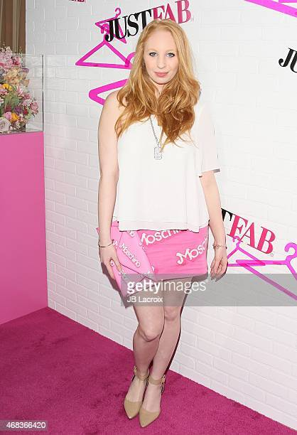 Elizabeth Stanton attends the JustFab Apparel Launch Event held at the Sunset Tower Hotel on April 01 2015 in West Hollywood California