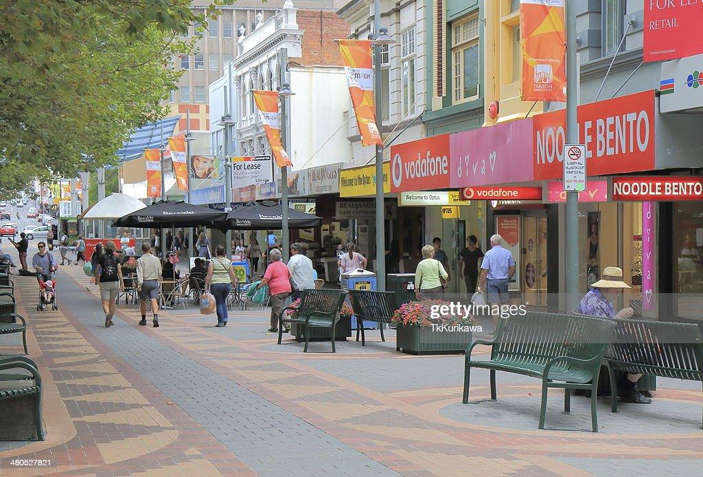 Elizabeth Street Hobart City : Bildbanksbilder