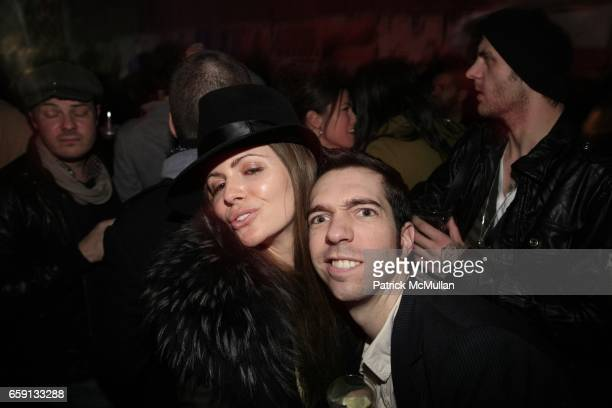 Elizabeth Sulcer and Alexis Dahan attend RADAR ENTERTAINMENT THE LAST MAGAZINE Toast Fashion Week at Studio 385 Broadway on February 20 2009 in New...