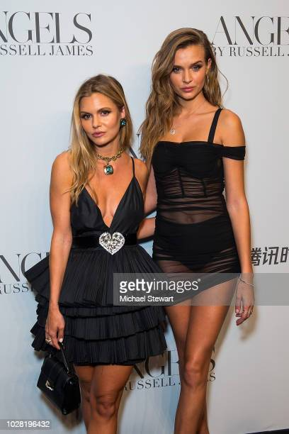 Elizabeth Sulcer and Josephine Skriver attend the Russell James 'Angels' book launch & exhibit at Stephan Weiss Studio on September 6, 2018 in New...