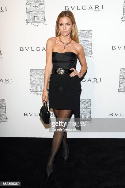 Elizabeth Sulcer attends a party to celebrate the Bvlgari Flagship Store Reopening on October 20 2017 in New York City