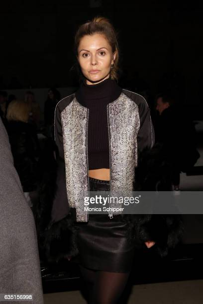 Elizabeth Sulcer attends the Zadig Voltaire fashion show during New York Fashion Week at Skylight Modern on February 13 2017 in New York City