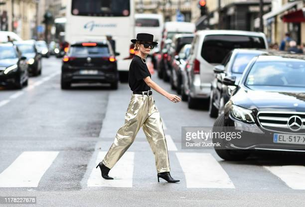 Elizabeth Sulcer is seen outside the Giambattista Valli show during Paris Fashion Week SS20 on September 30 2019 in Paris France