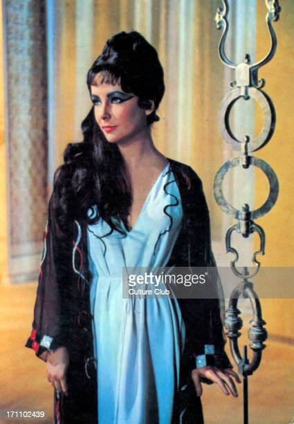 Elizabeth Taylor actress portrait as Cleopatra in film 1963 b in London 27 February 1932