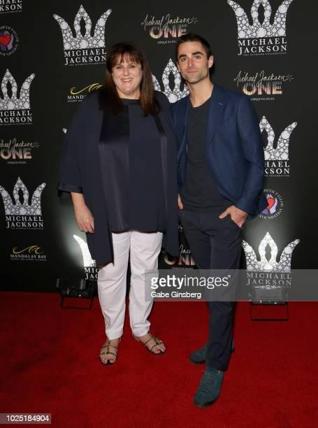Elizabeth Taylor Aids Foundation officer Barbara Berkowitz and Quinn Tivey attend the Michael Jackson diamond birthday celebration at Mandalay Bay...