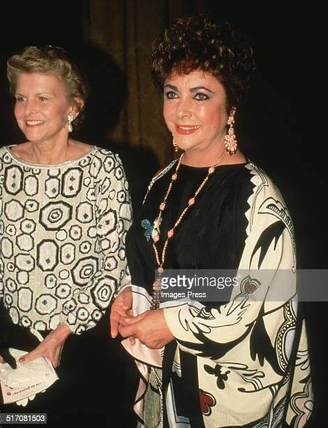 Elizabeth Taylor and Betty Ford attends the Opening Night Gala of the Martha Graham Dance Company's 3week season of performances at the State Theater...