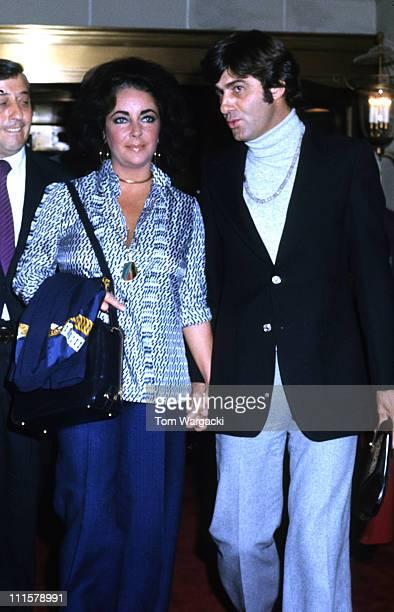 Elizabeth Taylor and boyfriend Henry Wynberg leaving the Waldorf Towers