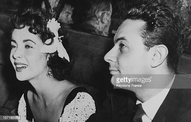 Elizabeth Taylor and director Stanley Donen in 1951 in Hollywood CA