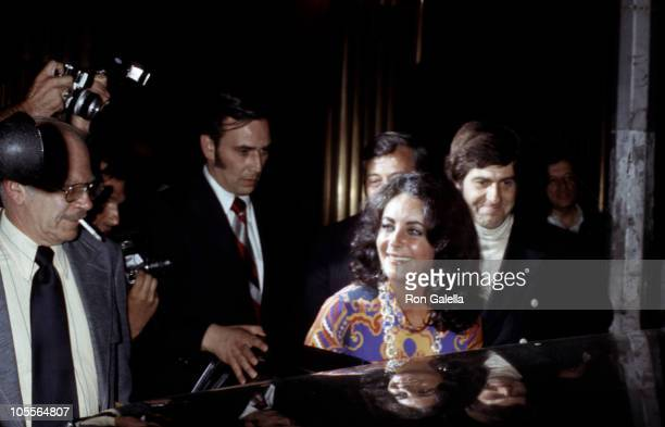 Elizabeth Taylor and Henry Wynberg during Candide Play and Afterparty at Gallagher's Restaurant in New York City New York United States
