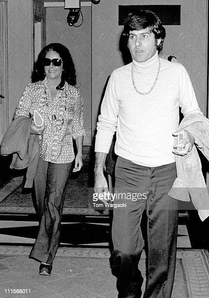 Elizabeth Taylor and her boyfriend Henry Wynberg during Elizabeth Taylor Sighting in New York City August 26 1974 at New York City in New York City...