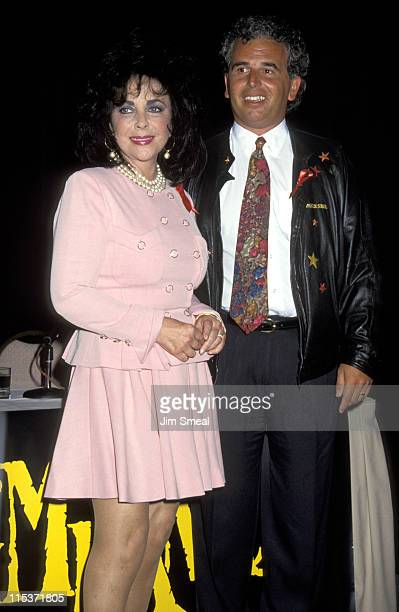Elizabeth Taylor and Jean David during Cirque du Soleil 'Saltimbanco' Press Conference at Loews Santa Monica Hotel in Santa Monica California United...