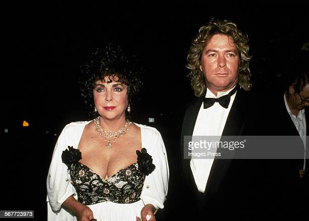 Elizabeth Taylor and Larry Fortensky circa 1990 in New York City.