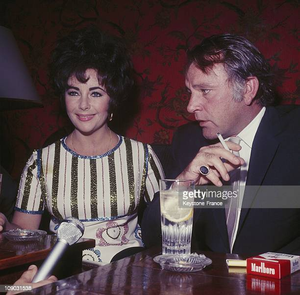 Elizabeth Taylor and Richard Burton after Elizabeth received The Oscar for her interpretation in the film 'Who's Afraid Of Virginia Woolf' in April...