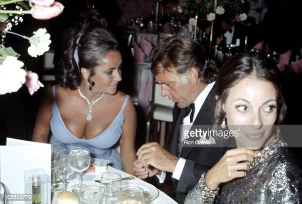 Elizabeth Taylor and Richard Burton during 42nd Annual Academy Awards - Rehearsal at Dorothy Chandler Pavilion in Los Angeles, California, United...