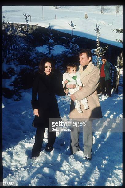 Elizabeth Taylor and Richard Burton hold their granddaughter Leyla January 15, 1973 in Gstaad, Switzerland. Elizabeth Taylor and husband Richard...