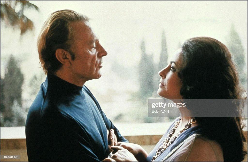 Elizabeth Taylor and Richard Burton in Israel in 1975.
