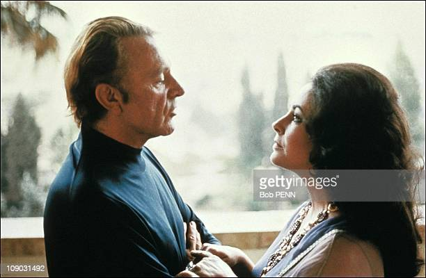 Elizabeth Taylor and Richard Burton in Israel in 1975