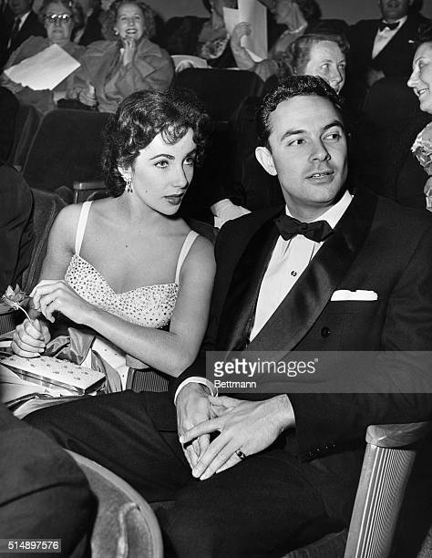 Elizabeth Taylor and Stanley Donen at the John Tracy Clinic benefit premier of her new film Father's Little Dividend