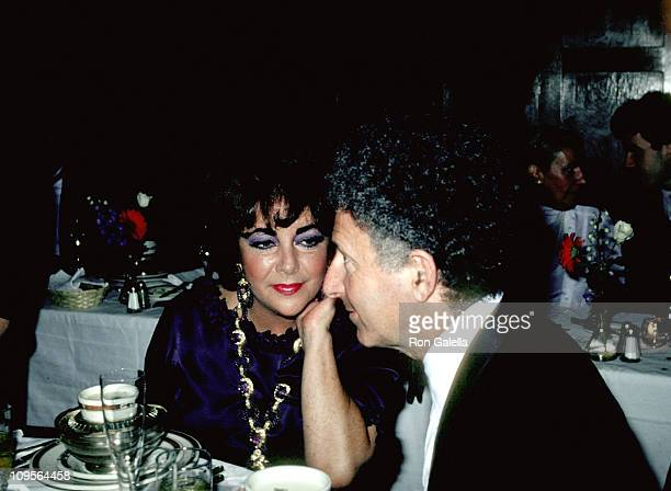 Elizabeth Taylor and Zev Bufman during Party to Toast Marriage of Price Charles and Princess Diana of England New York July 29 1981 at Alogonquin...