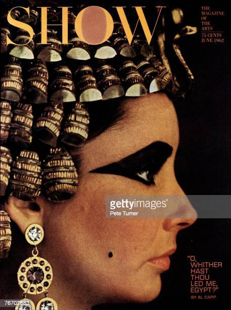 Elizabeth Taylor as Cleopatra on the cover of Show Magazine in Rome Italy in June 1962