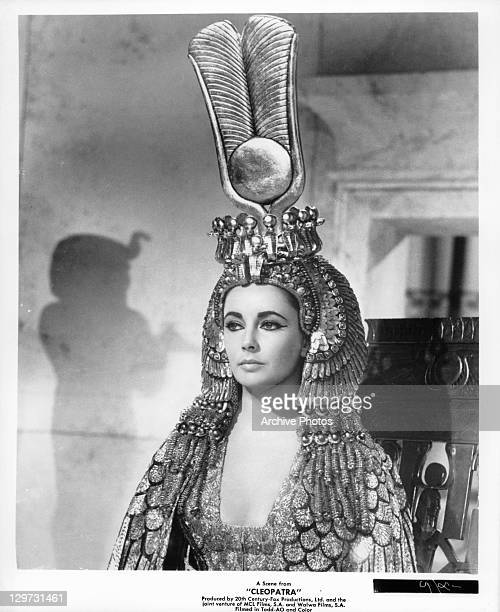Elizabeth Taylor as title role in a scene from the film 'Cleopatra' 1963