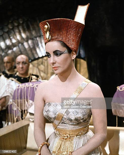 Elizabeth Taylor , British actress, in costume in a publicity still issued for the film, 'Cleopatra', 1963. The historical drama, directed by Joseph...