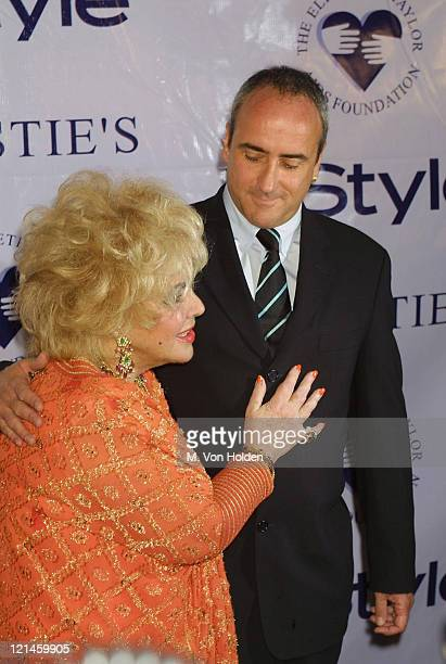Elizabeth Taylor Christopher Wilding during Christie's Private Auction to Benefit Elizabeth Taylor AIDS Foundation at Christie's in New York New York...