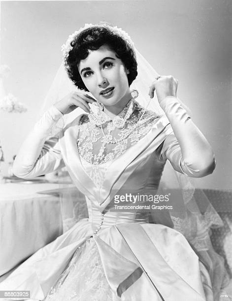 Elizabeth Taylor dressed for her role in the film 'Father of the Bride' Hollywood 1950