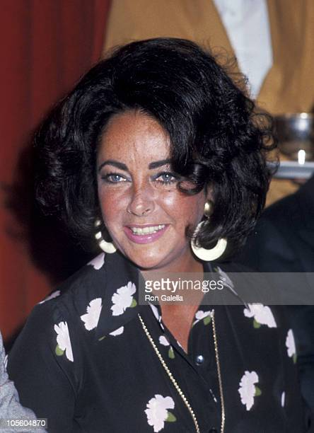 Elizabeth Taylor during 1976 Publicists Guild Awards at Beverly Wilshire Hotel in Los Angeles California United States