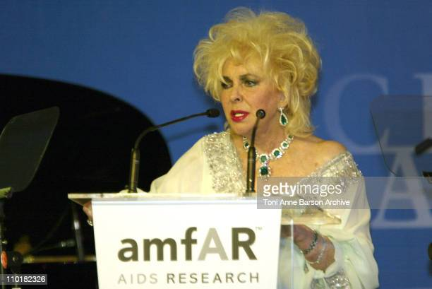 Elizabeth Taylor during 2003 Cannes Film Festival Cinema Against Aids 2003 to benefit amfAR sponsored by Miramax Auction at Moulin de Mougins in...