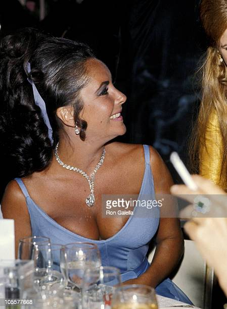 Elizabeth Taylor during Academy Awards Governers Ball at Beverly Hilton Hotel in Beverly Hills, California, United States.