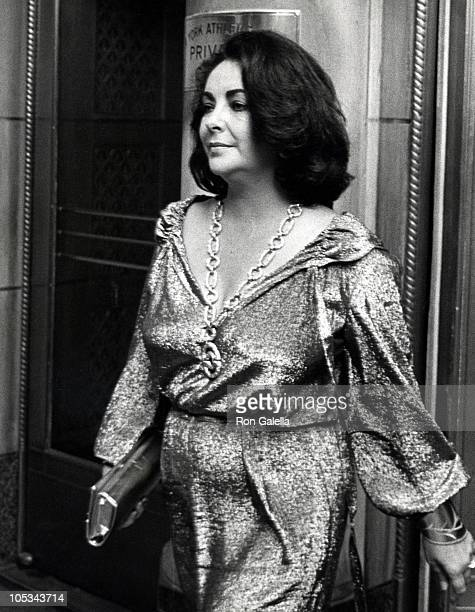Elizabeth Taylor during New York Athletic Club Benefit at New York Athletic Club in New York City New York United States
