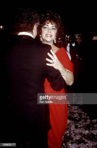 """Elizabeth Taylor during """"Night of 100 Stars"""" Actors Fund Benefit - Afterparty at New York Hilton Hotel in New York City, New York, United States."""