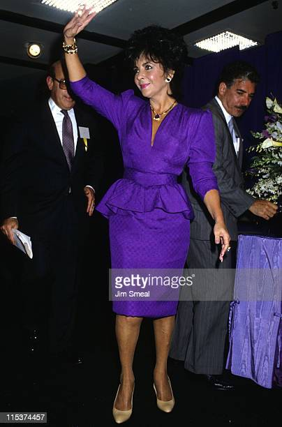 Elizabeth Taylor during 'Passion' Perfume Promotion September 14 1987 at Robinson's Department Store in Beverly Hills California United States