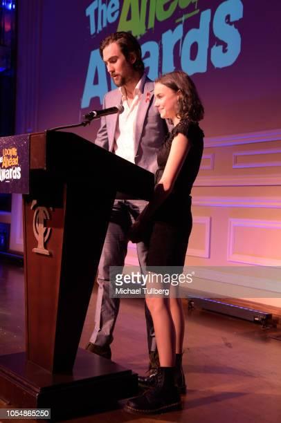 Elizabeth Taylor grandson Tarquin Wilding and Elizabeth Taylor greatgranddaughter Vivian McMurray speak at the Actor's Funds 2018 Looking Ahead...