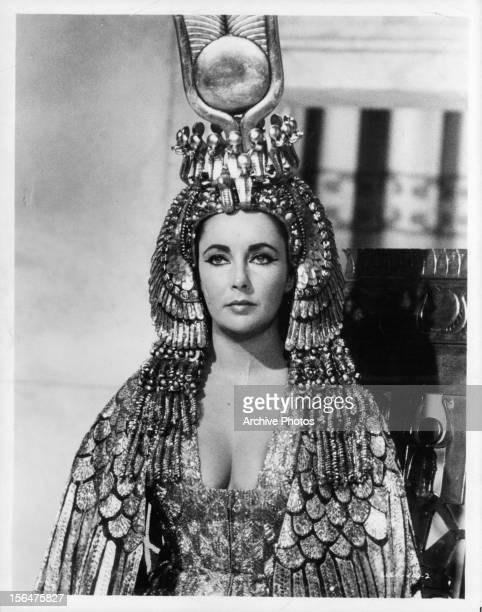 Elizabeth Taylor in a scene from the film 'Cleopatra' 1963