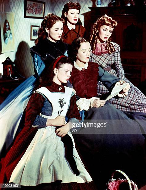 Elizabeth Taylor Margaret O'Brien Janet Leigh June Allyson and Mary Astor in the film ''Little Women'' in 1948