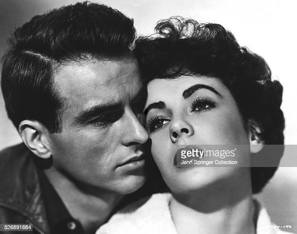 Elizabeth Taylor stars as Angela Vickers and Montgomery Clift stars as George Eastman in the 1951 film A Place in the Sun
