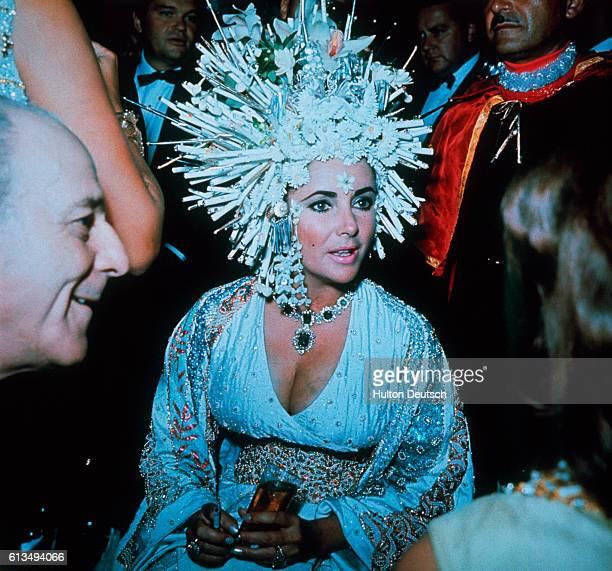 Elizabeth Taylor Wearing Bulgari Headdress