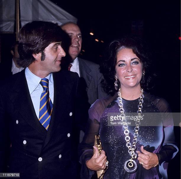 Elizabeth Taylor with Henry Wynberg during Elizabeth Taylor Sighting at the 21 Club in New York City August 1 1974 at 21 Club in New York City New...