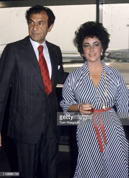Elizabeth Taylor with Iranian ambassador to the United States Ardeshir Zahedi