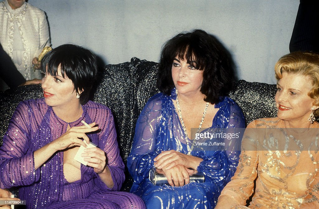 Elizabeth Taylor with Liza Minnelli and Betty Ford at Studio 54 in NYC