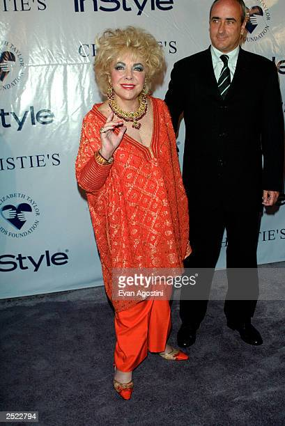 Elizabeth Taylor with son Chris Wilding arriving at the Elizabeth Taylor My Love Affair With Jewelry gala and private auction hosted by In Style...